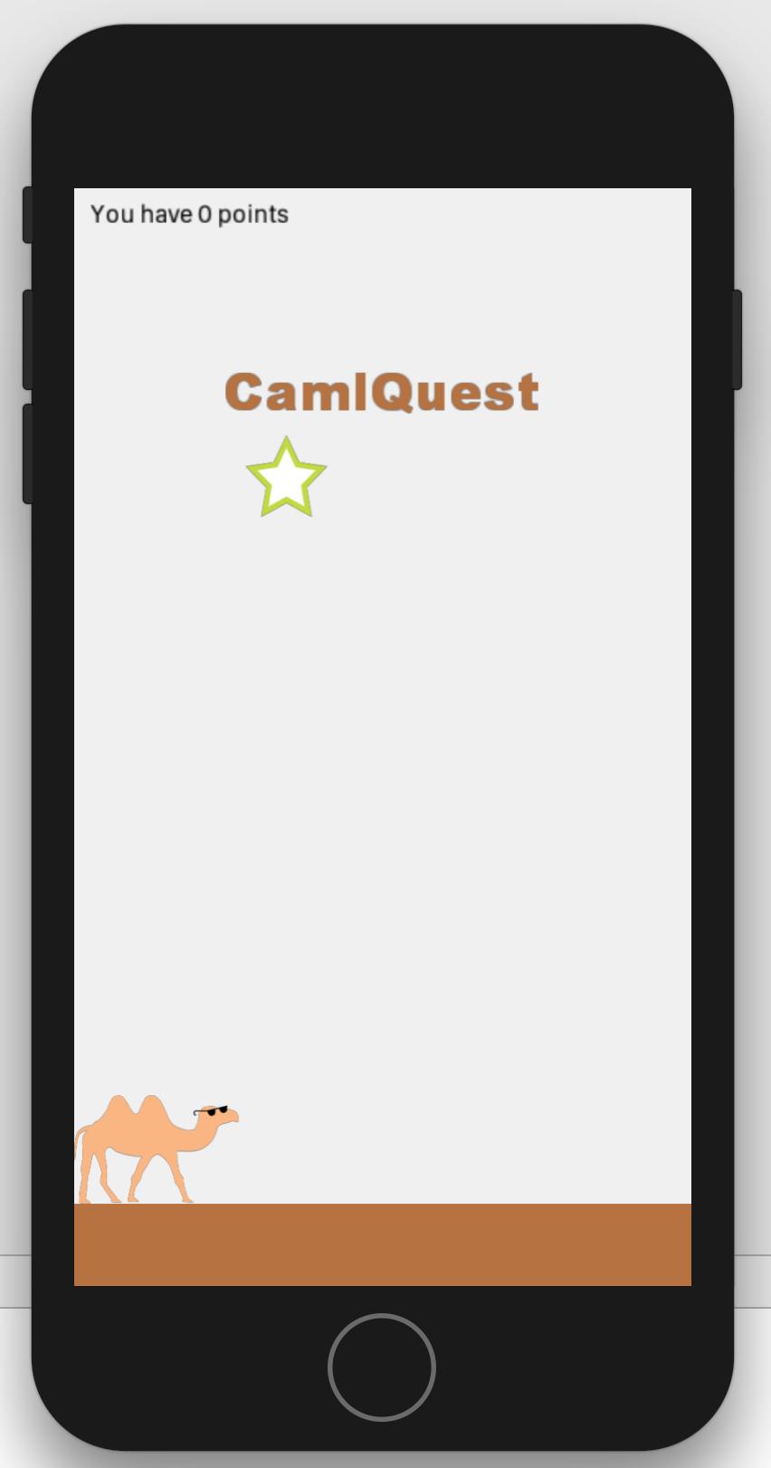 screenshot of the game running in the ios simulator